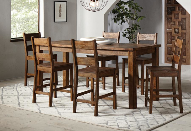 Coleman Counter Height Dining Room Set with Ladder Back Chairs