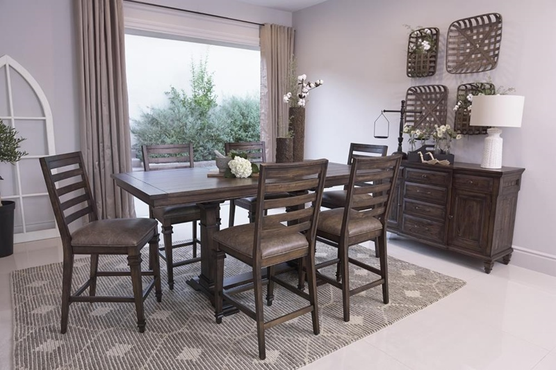 Delphine Counter Height Rustic Dining Room Set