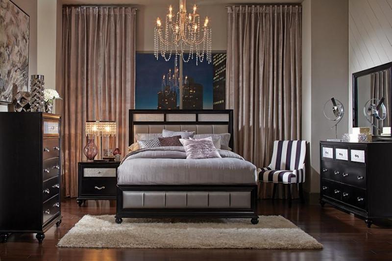 Barzini Bedroom Set in Black