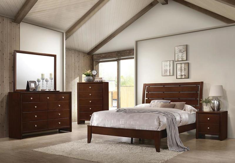 Serenity Bedroom Set in Merlot
