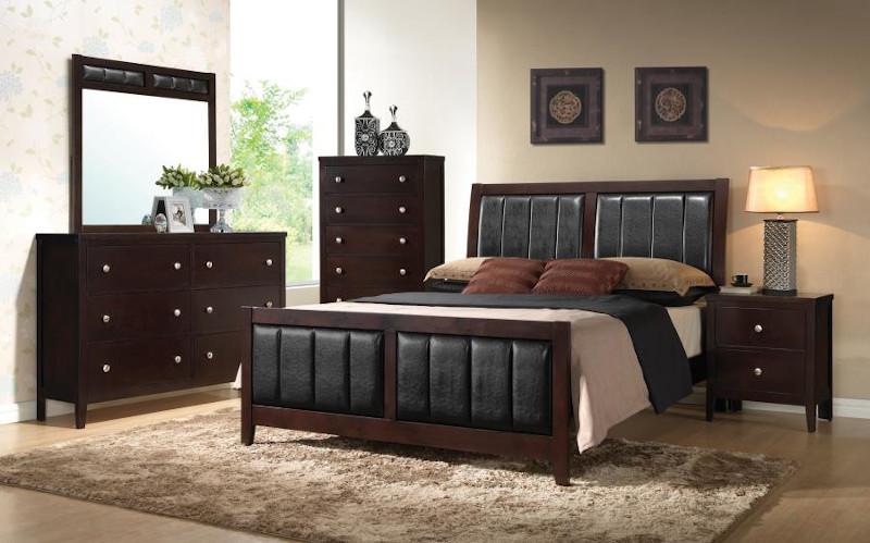 Carlton Bedroom Set in Cappuccino