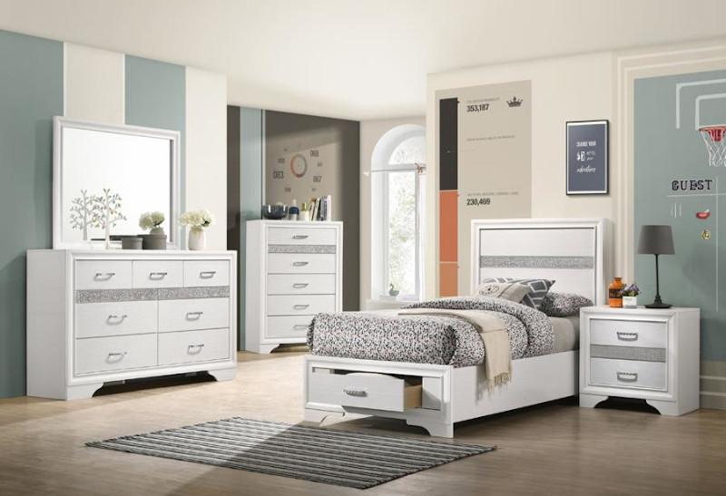 Miranda Youth Bedroom Set in White