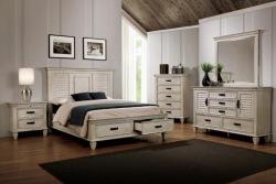 Franco Storage Bedroom Set in Antique White