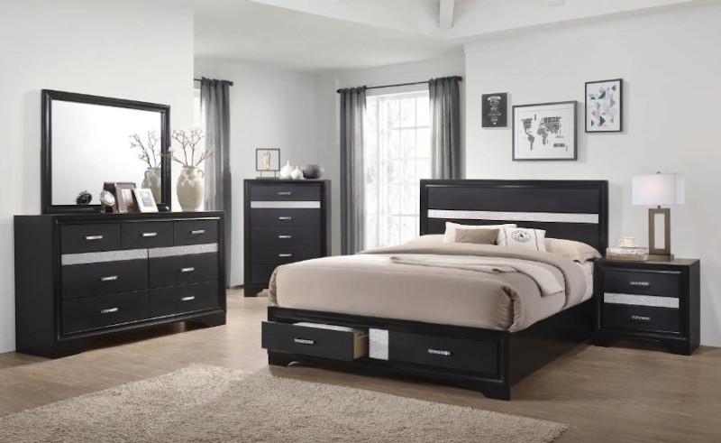 Miranda Bedroom Set in Black