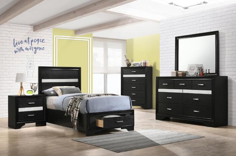Miranda Youth Bedroom Set in Black