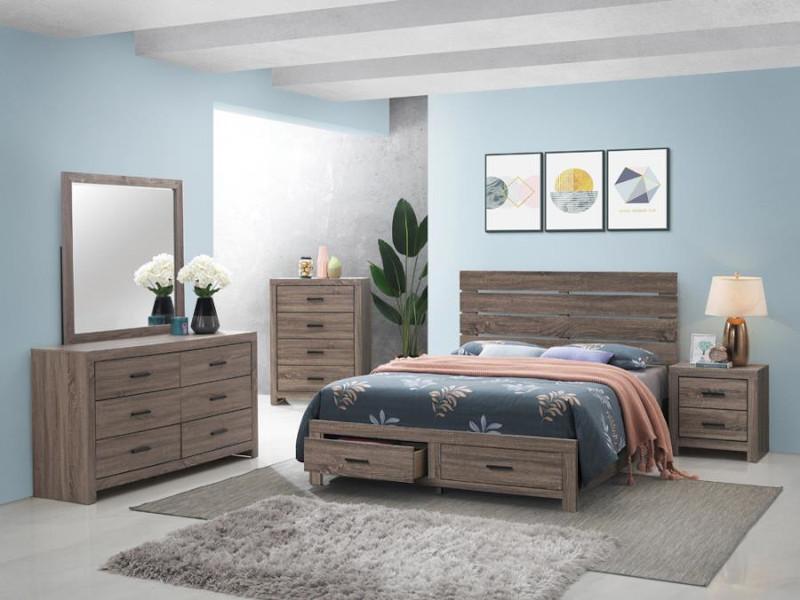 Brantford Storage Bedroom Set in Oak