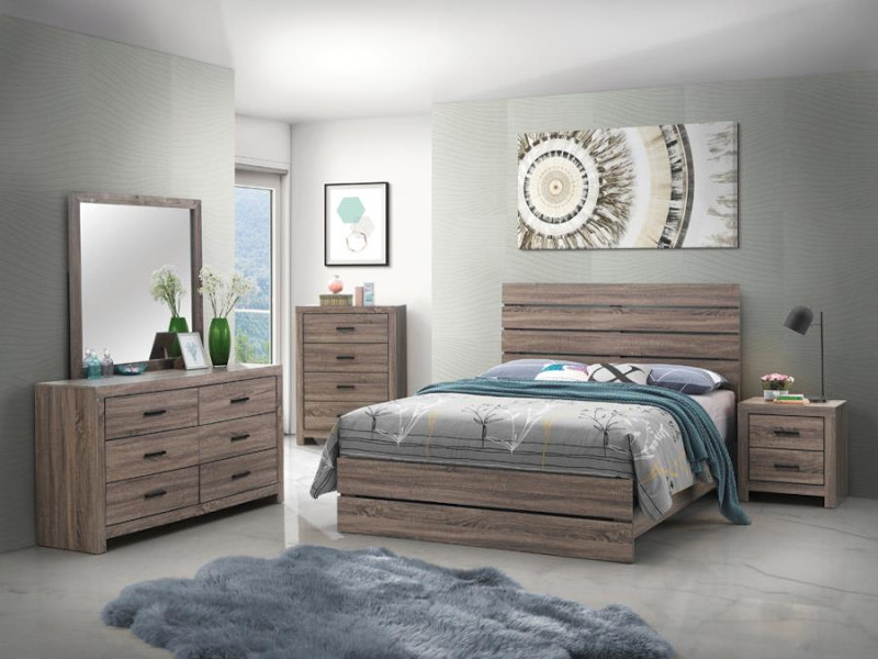 Brantford Bedroom Set in Oak