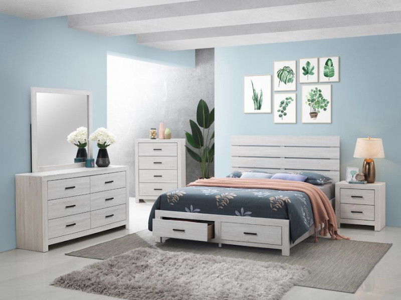 Brantford Storage Bedroom Set in White