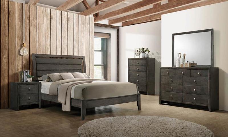 Serenity Bedroom Set in Grey