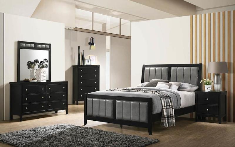 Carlton Bedroom Set in Black
