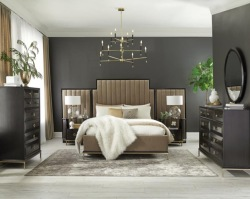 Formosa Bedroom Set in Camel Velvet