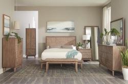 Vanowen Bedroom Set with Wooden Headboard