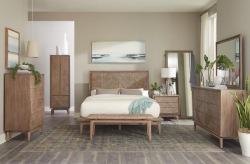 Vanowen Bedroom Set with Woven Headboard