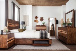 Winslow Live Edge Bedroom Set with Storage Bed