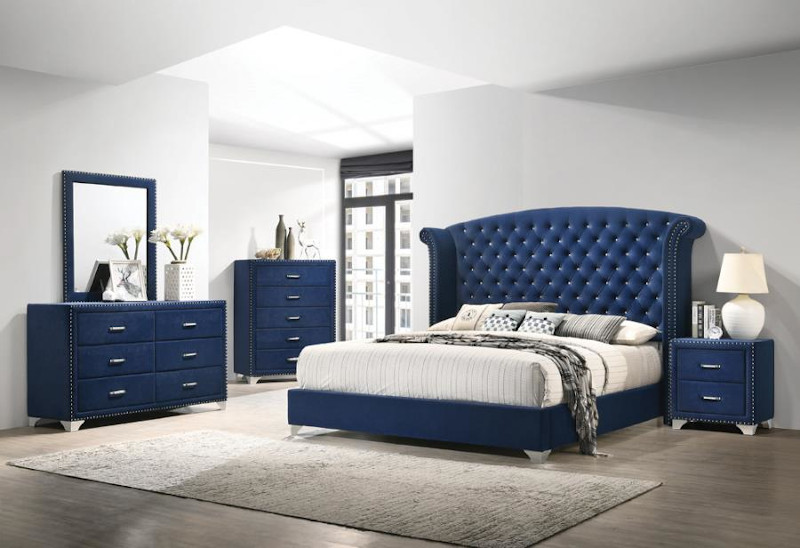 Melody Bedroom Set in Blue