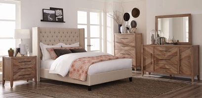 Benicia Upholstered Bed Bedroom Set