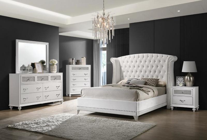 Barzini Bedroom Set in White