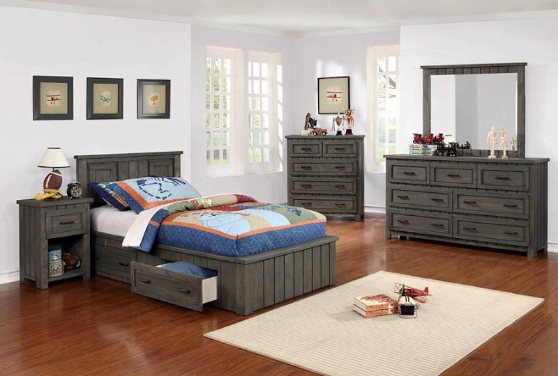 Napoleon Youth Bedroom Set with Storage Bed