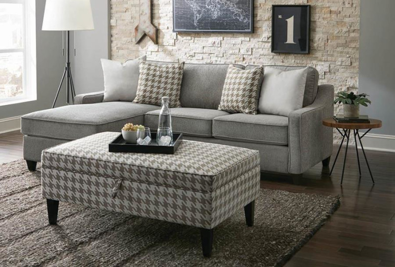 McLoughlin Sectional Sofa in Charcoal