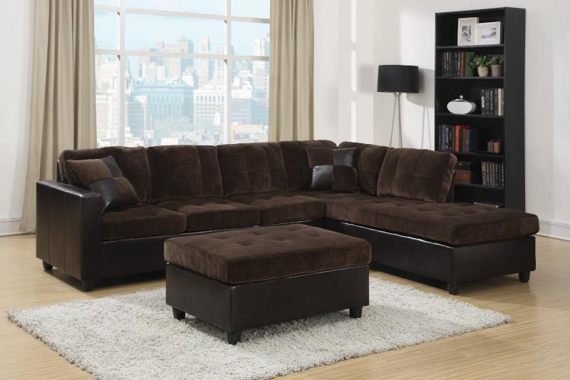 Mallory Sectional Sofa in Dark Chocolate
