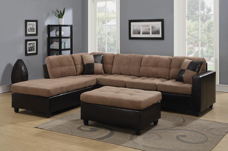 Mallory Sectional Sofa in Tan