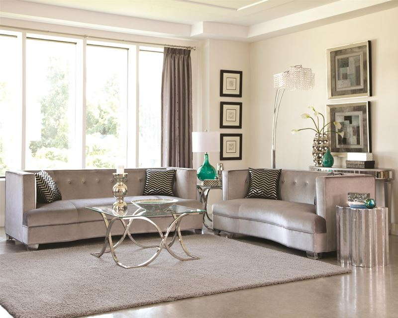 Superieur Caldwell Silver Living Room Set ...
