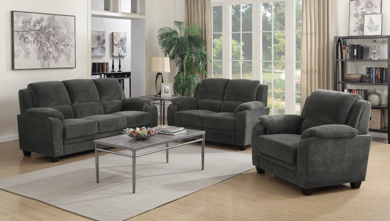 Northend Living Room Set in Charcoal