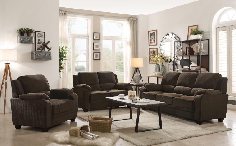 Northend Living Room Set in Chocolate