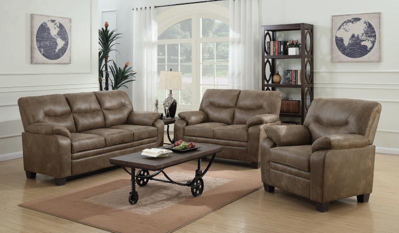 Meagan Living Room Set in Brown