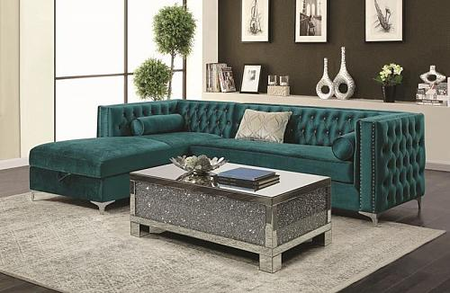 Bellaire Sectional Sofa in Teal