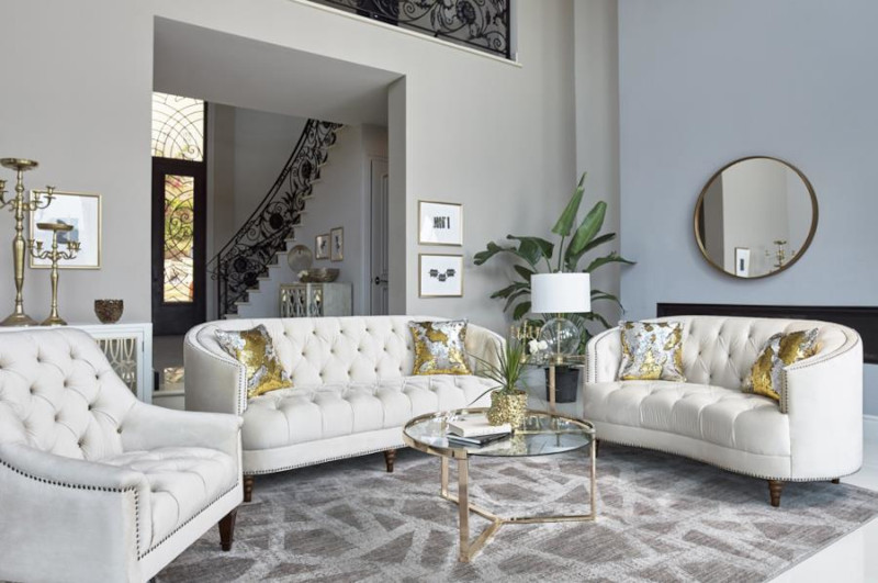 Avonlea Living Room Set in White