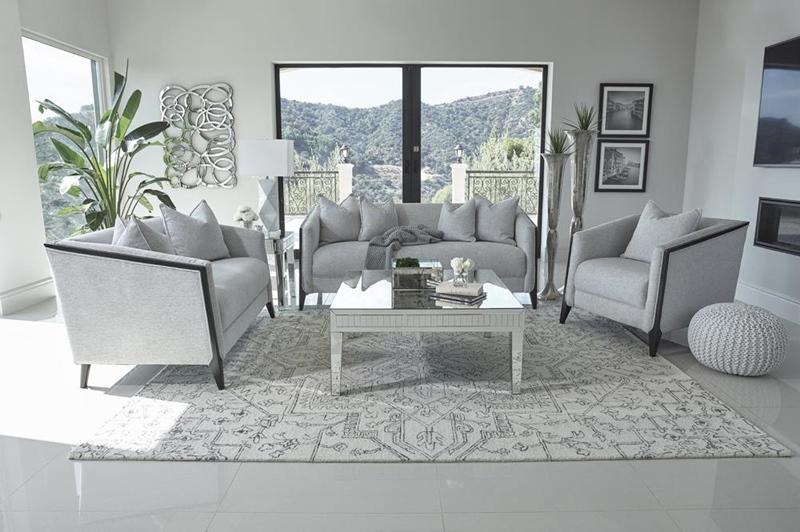 Whitfield Living Room Set in Dove Grey