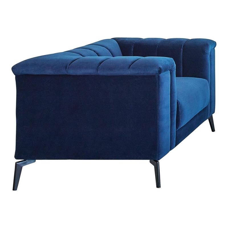 Chalet Living Room Set in Bold Blue