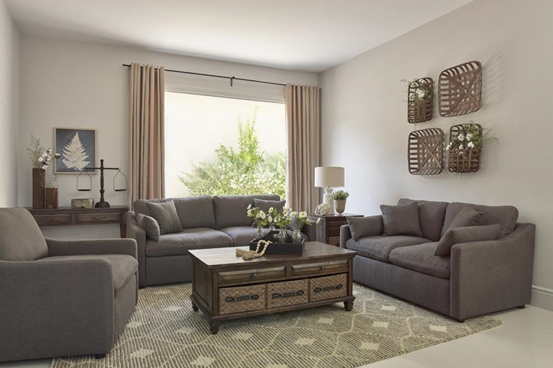 Contrary Living Room Set in Charcoal