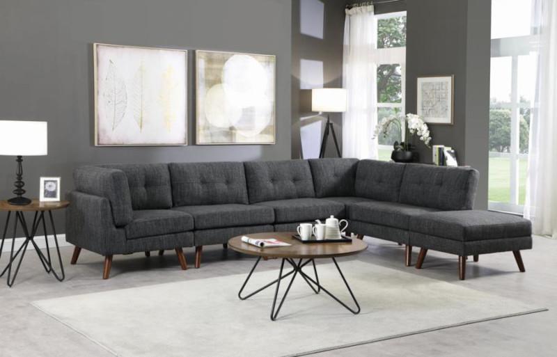 Churchill Sectional Sofa in Dark Grey
