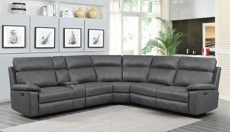 Albany Living Room Sectional in Grey