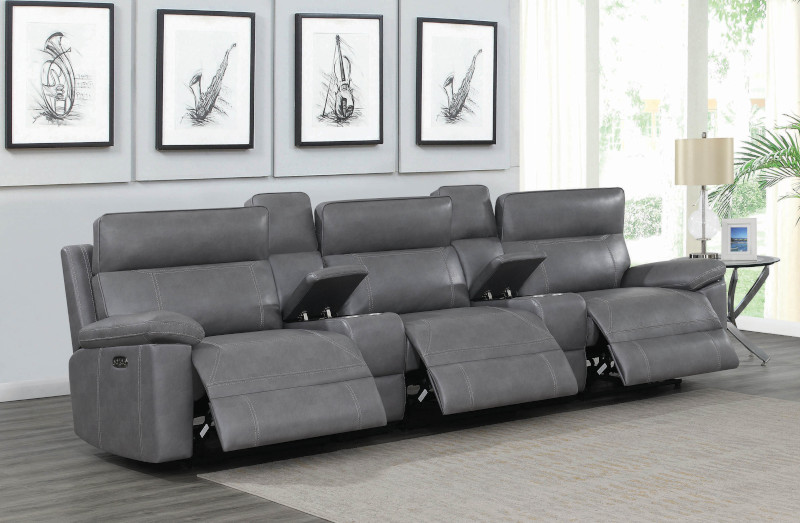 Albany Home Theater Set in Grey