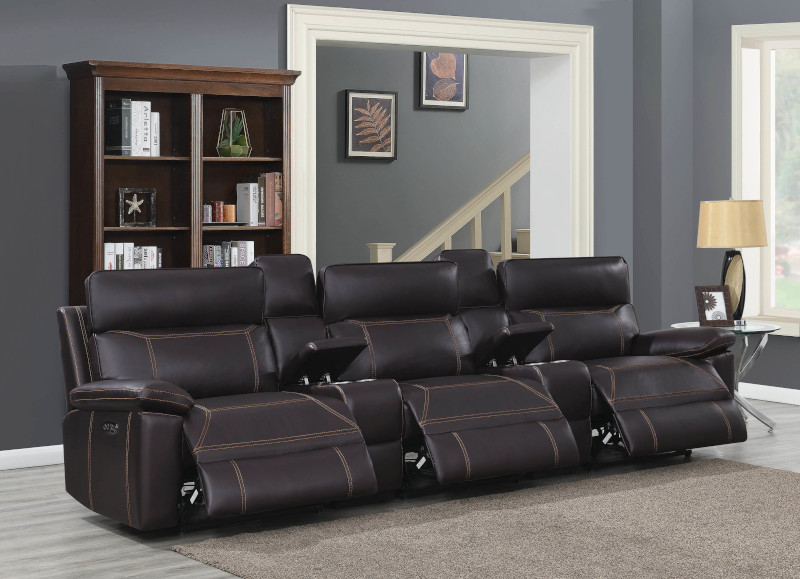 Albany Home Theater Set in Brown