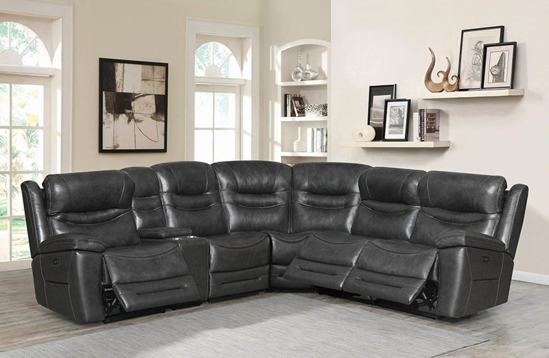 Destin Living Room Sectional in Charcoal