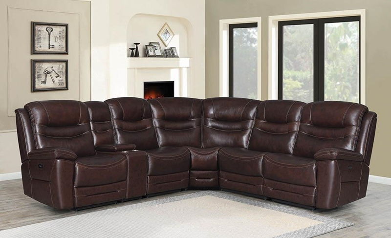 Destin Living Room Sectional in Brown