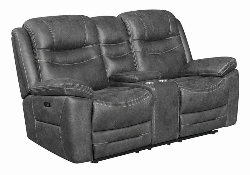Hemer Power Motion Living Room Set in Dark Grey
