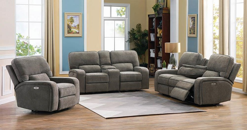 Dundee Power Motion Living Room Set in Beige