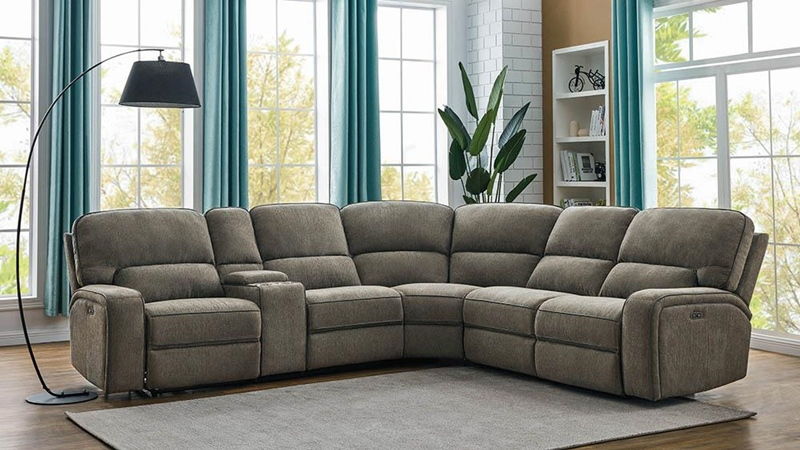 Dundee Living Room Sectional in Beige
