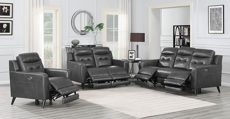 Lantana Living Room Set in Charcoal