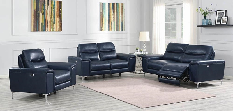 Largo Living Room Set in Ink Blue