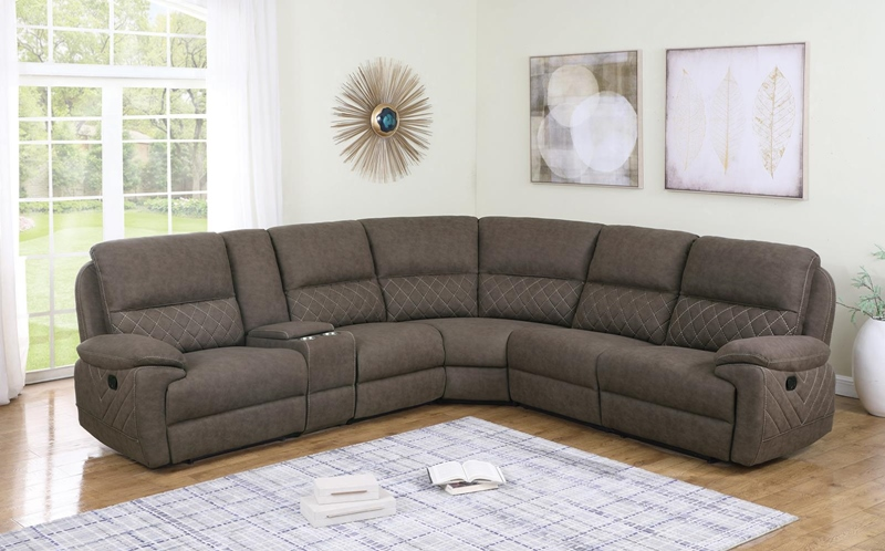 Variel Living Room Motion Sectional in Taupe