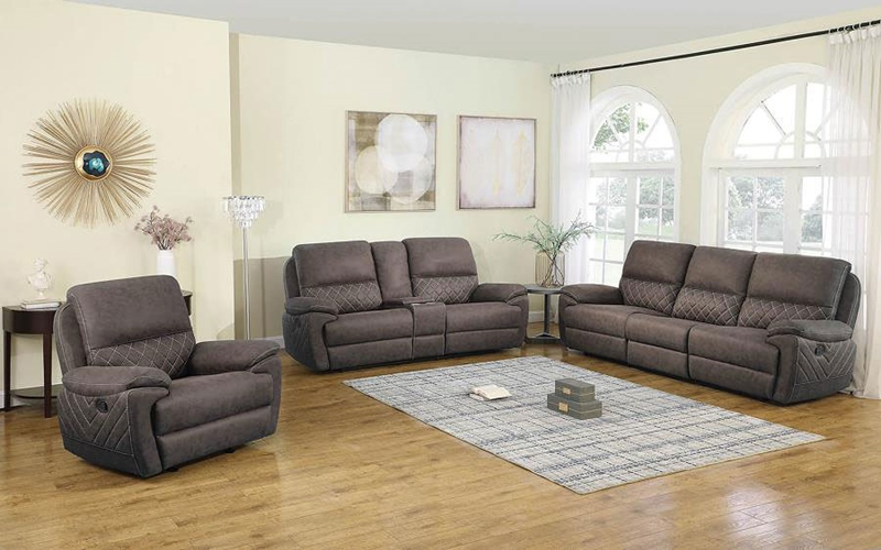 Variel Living Room Set in Taupe