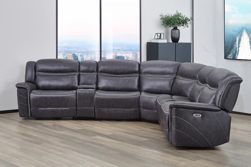 Bluefield Living Room Motion Sectional in Charcoal