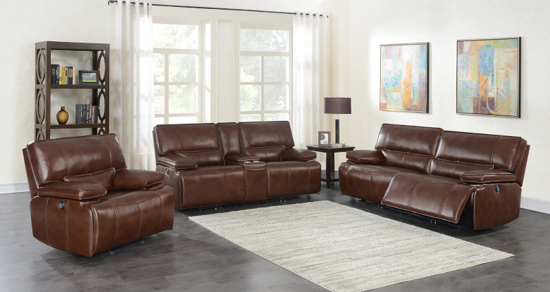 Southwick Reclining Leather Living Room Set