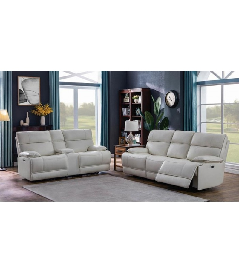 Stanford Motion Living Room Set in White